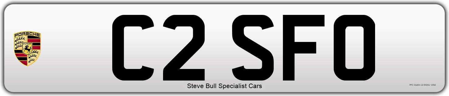 Personal Number Plate  .     C2 SFO