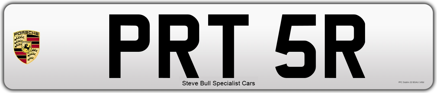 Personal Number plate PRT 5R