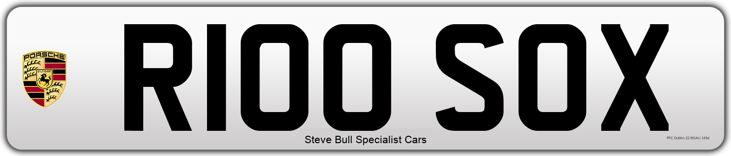 Personal Number Plate R100 SOX